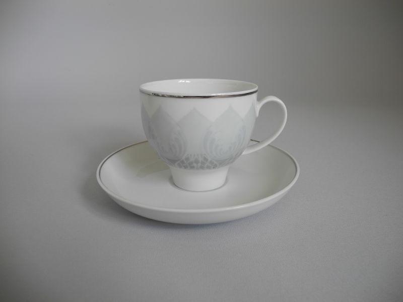 rosenthal lotus ballett mit platin kaffeegedeck 2 teilig die porzellandiele. Black Bedroom Furniture Sets. Home Design Ideas