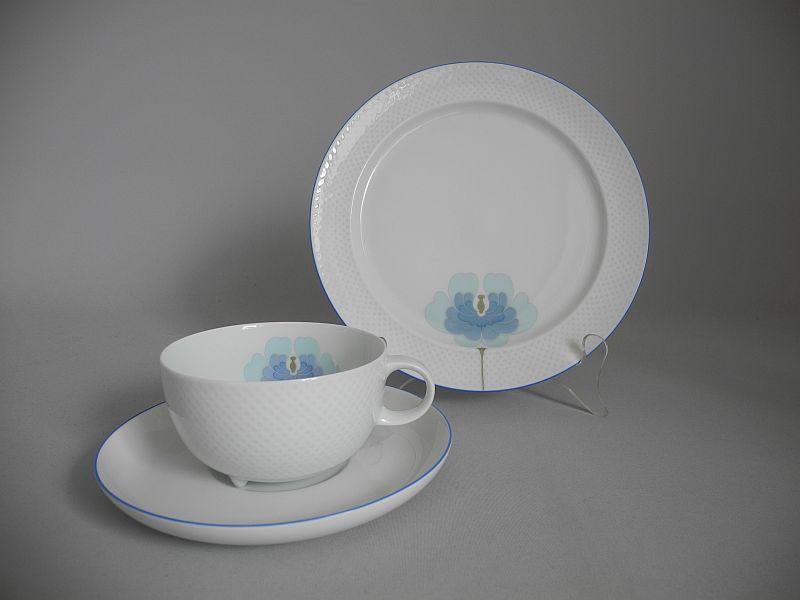 Rosenthal century blaue blume teegedeck 3 teilig die for Spiegel und fahne